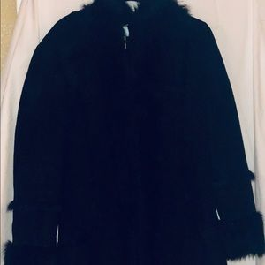Marciano Faux Fur Trench Coat